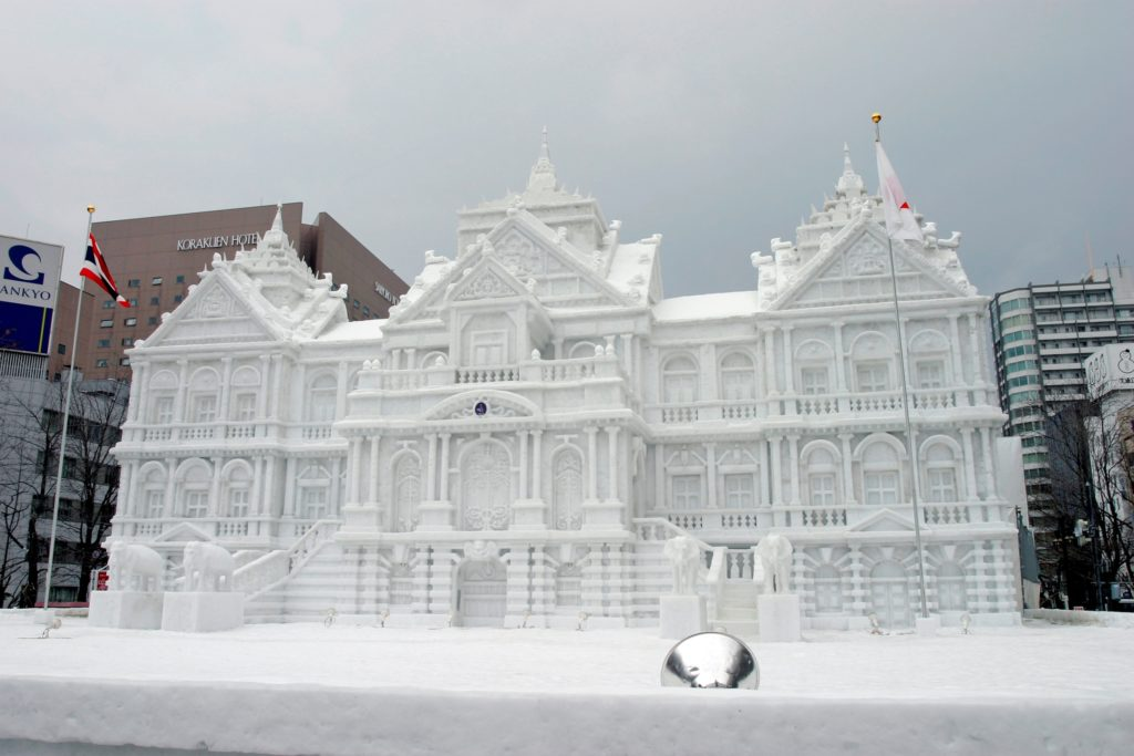 a building made with ice