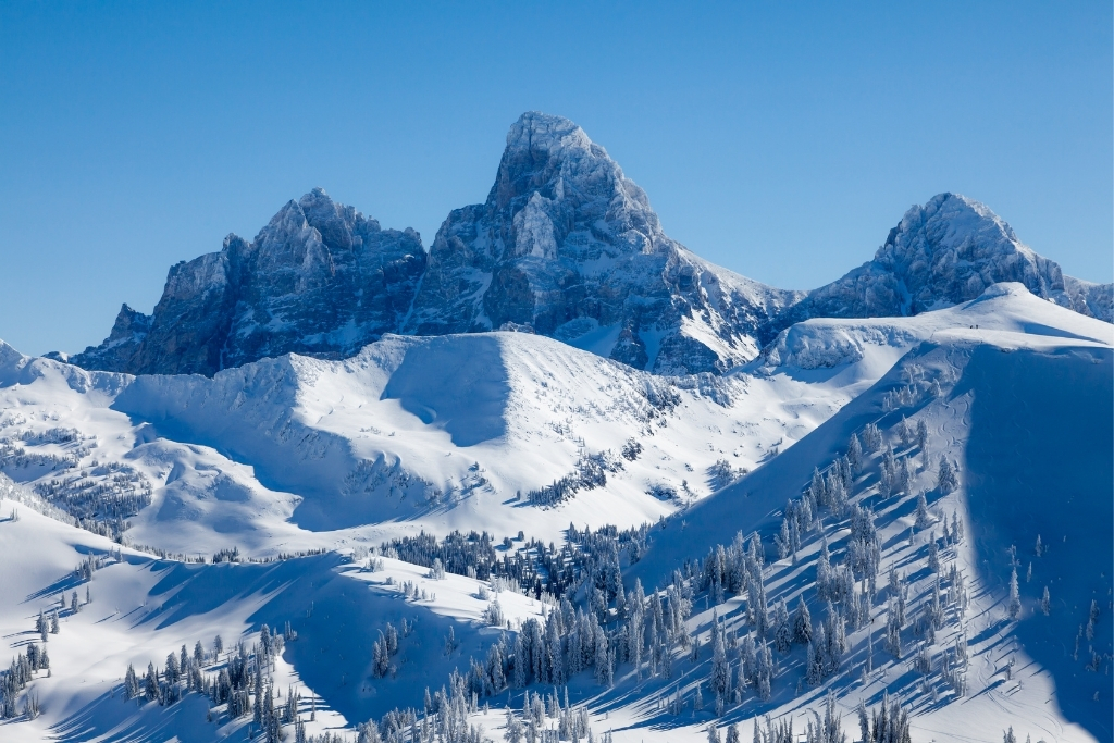 snow covered mountain Grand Targhee