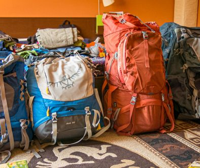 four backpacks for backpacking