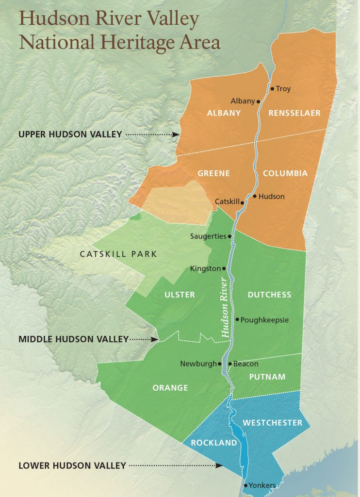 hudson valley map