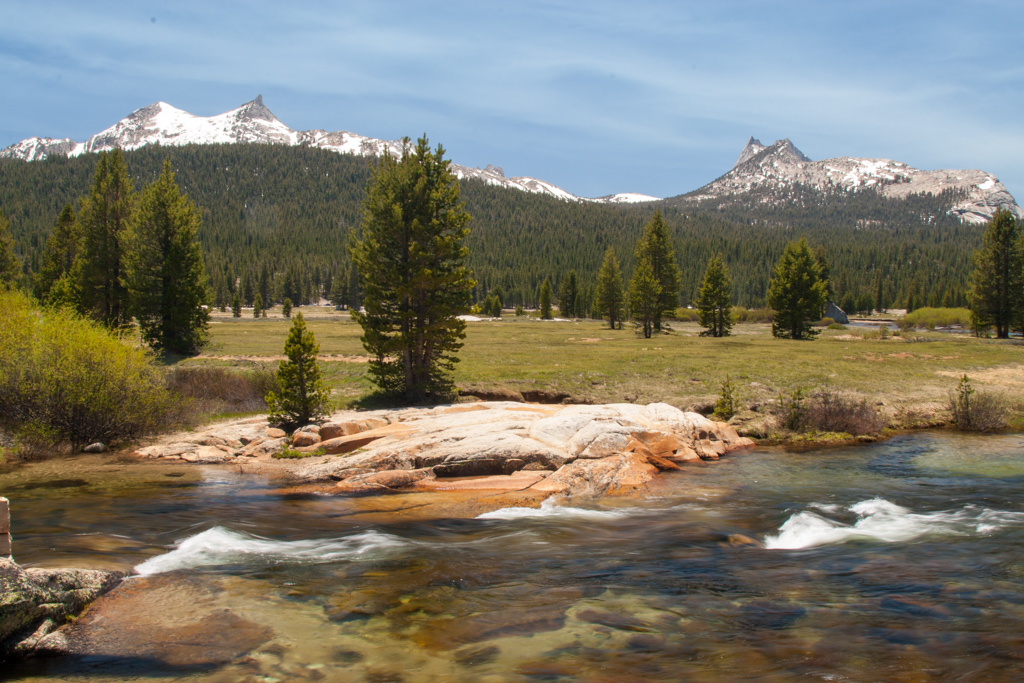 mountains and river Tuolumne Meadows